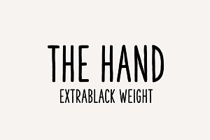 The Hand Font (Extrablack weight)