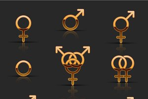 Set of sexuality icons