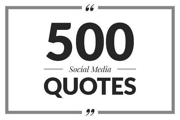 500 Social Media Quotes Instagram Templates Creative Market