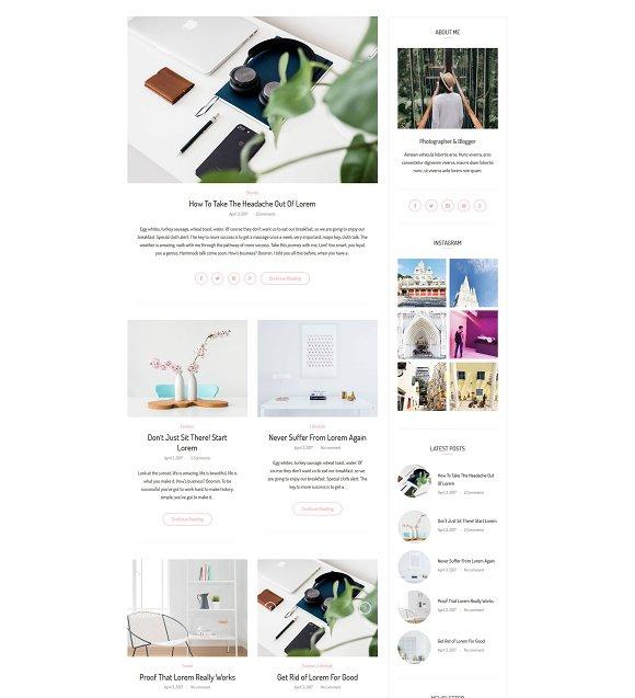 Antarctica WordPress Blog Theme