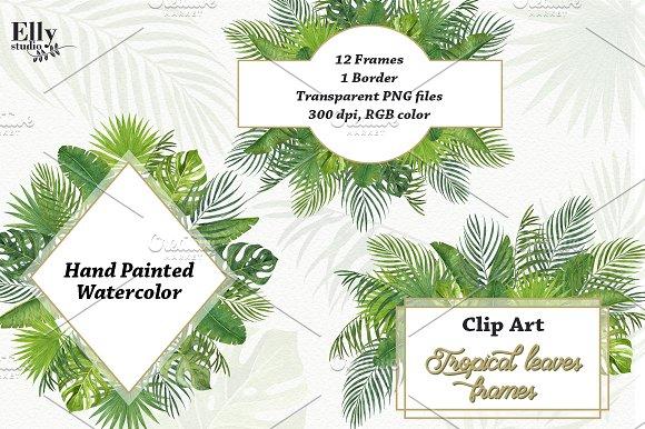 Tropical leaves frames