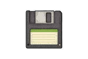 Floppy disk with blank label PC