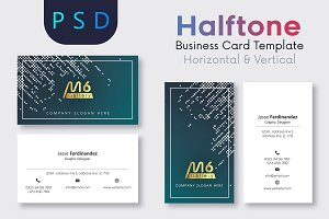 Halftone Business Card Template- S10