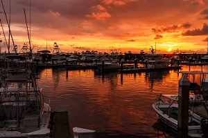 Sunset over Marina Pez Vela