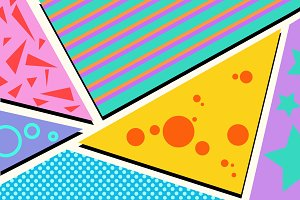 Geometric pop art background