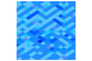 Blue Maze Abstract Low Polygon Backg
