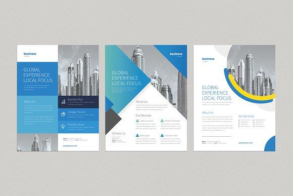 3 professional business flyers flyer templates creative market