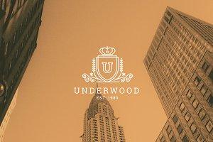 Letter U Logo - Heraldry Crest Logo