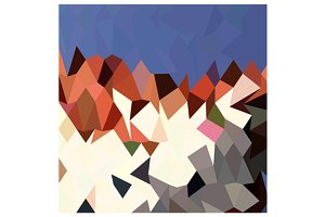 Mountain Sky Abstract Low Polygon Ba