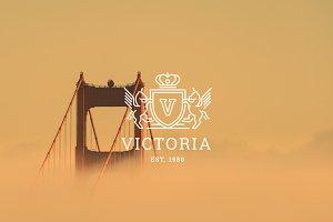 Letter V Logo - Heraldry Crest Logo