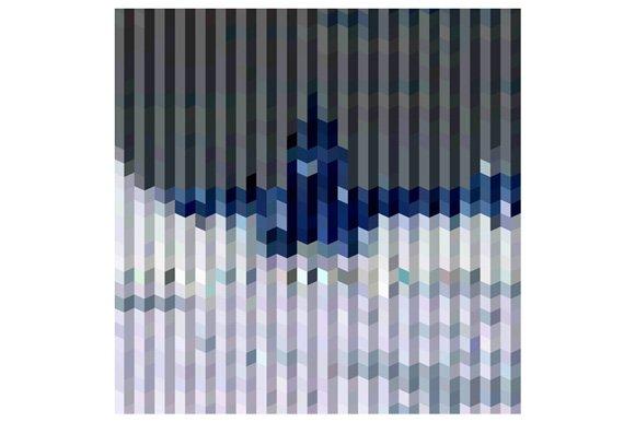 Purple Bars Abstract Low Polygon Bac