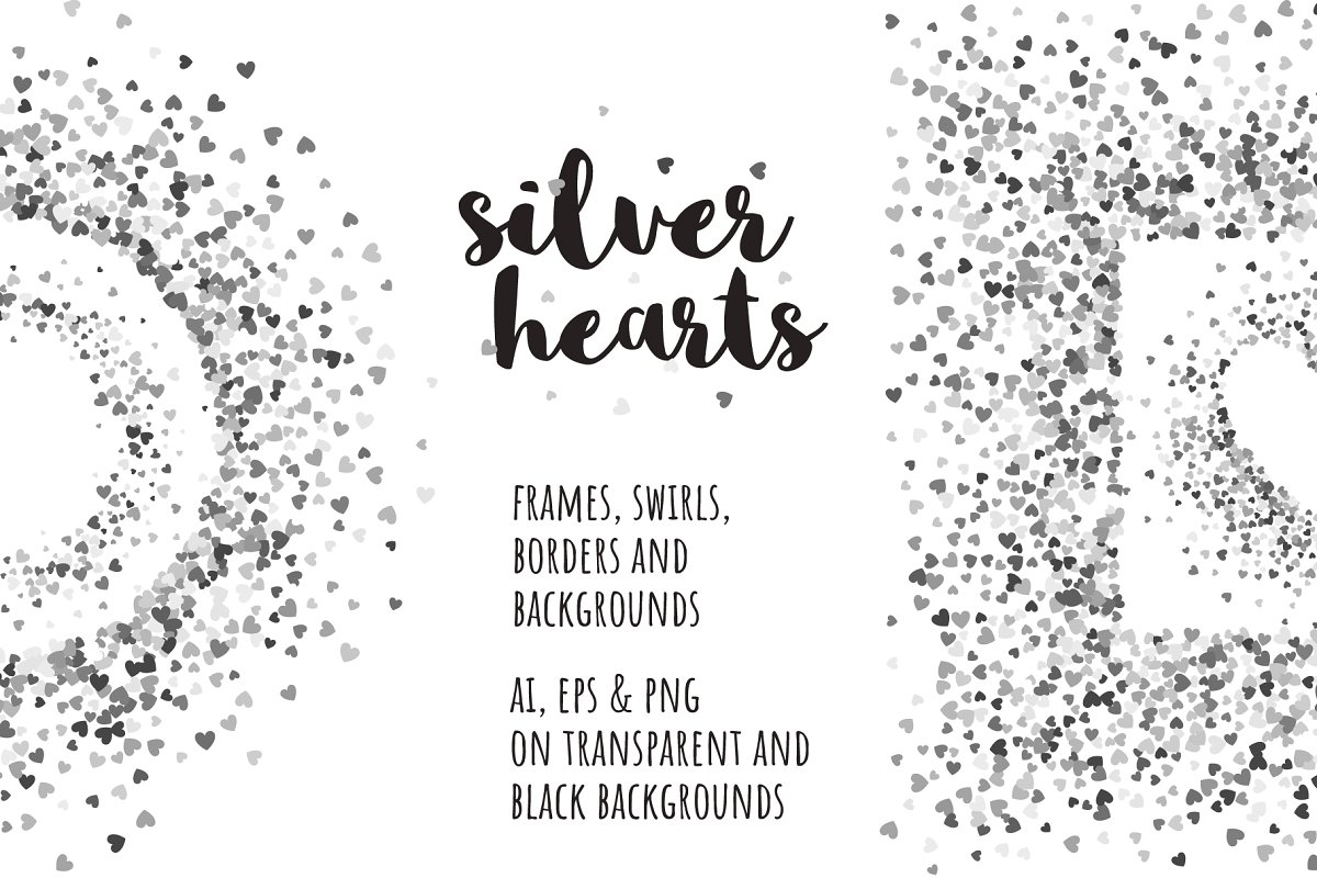 Silver hearts collection