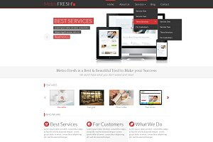 MetroFRESH - Portfolio PSD Template