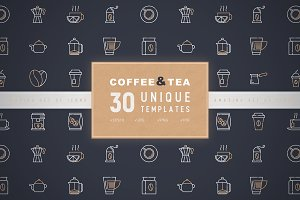 Coffee and Tea Icons Set | Concept