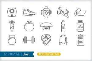 Minimal diet icons