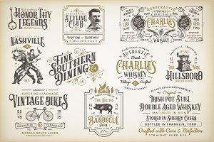 10 Vintage Victorian Badges