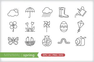Minimal spring icons