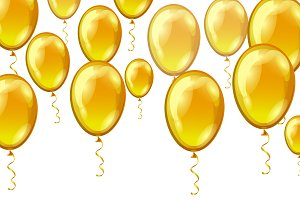 Balloons background.