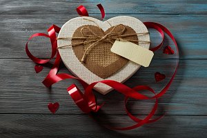 Gift box in heart shape