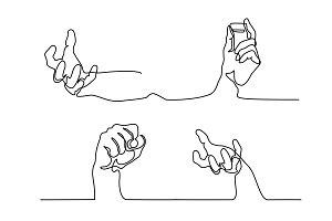 Set of Human hand