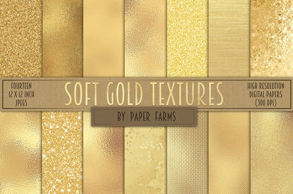 Soft gold textures