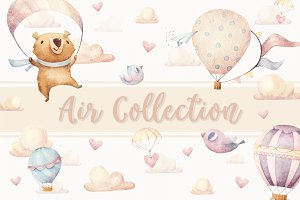 6 Seamless Patterns • Air Collection