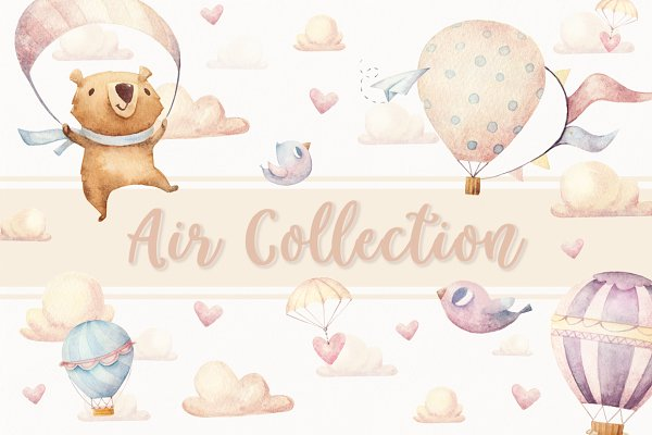 6 Seamless Patterns • Air Collectio…