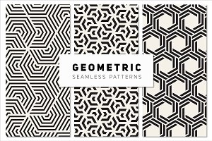 Bold Geometric Seamless Patterns