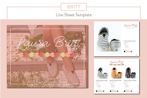 Britt Fashion Line Sheet Template