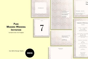 Parii Modern Wedding Stationery