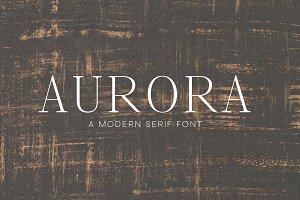 Aurora - Serif Font for Designers