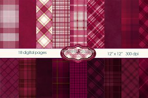 Ruby Plaid-18 Digital Papers