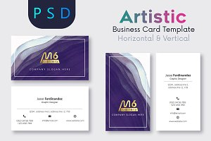 Artistic Business Card Template- S08