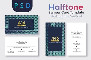 Halftone Business Card Template- S07