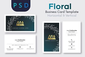 Floral Business Card Template- S06
