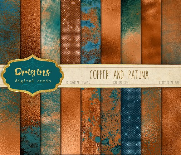 Copper and Patina Textures