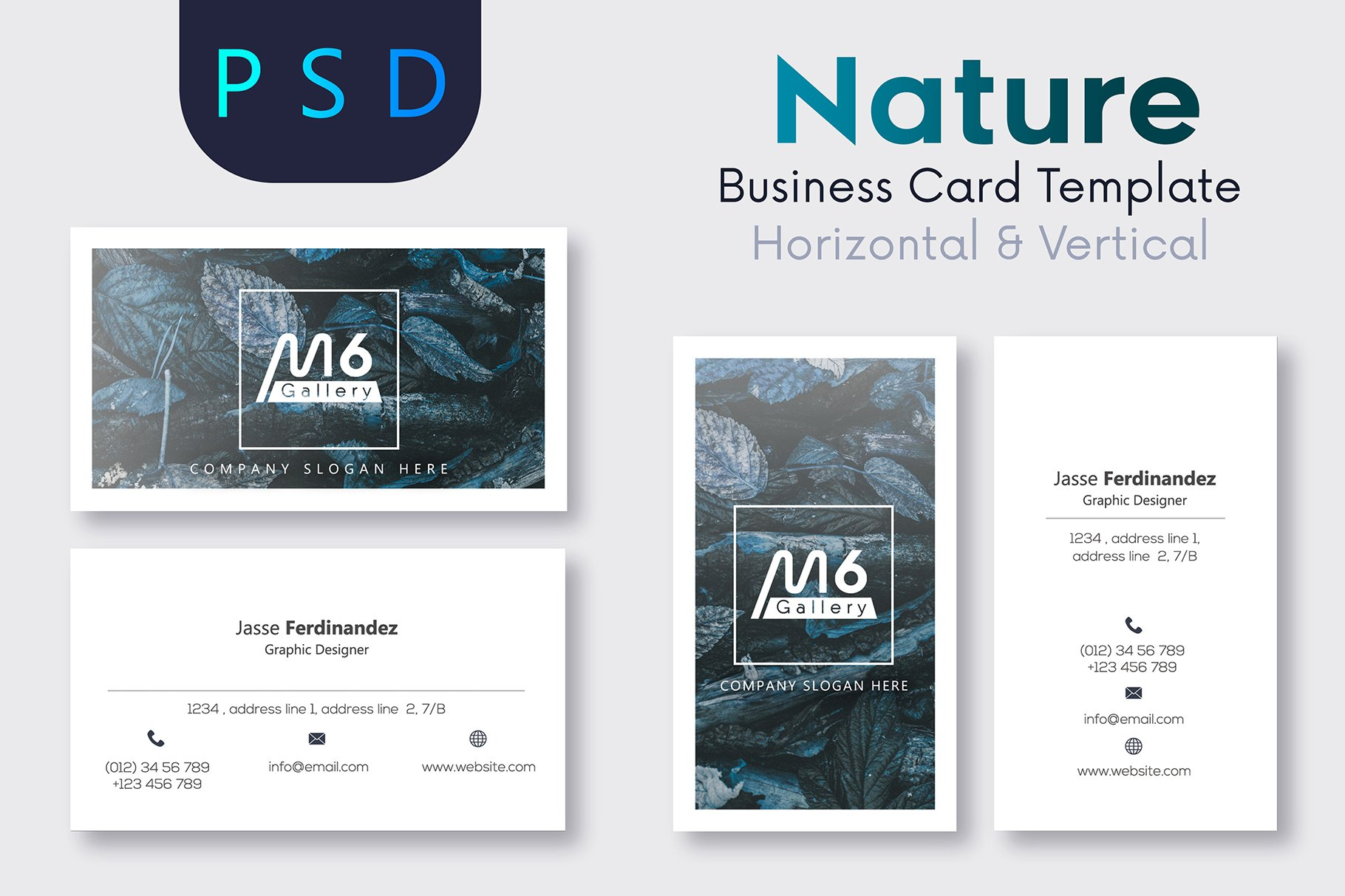 Nature business card template s12 business card templates nature business card template s12 business card templates creative market reheart Gallery