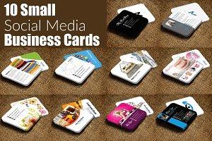 10 Multiuse Mini Contact Card Bundle