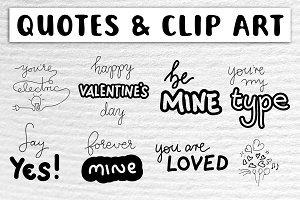 Valentine's SVG Quotes & Clip Art