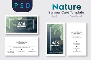 Nature Business Card Template- S13