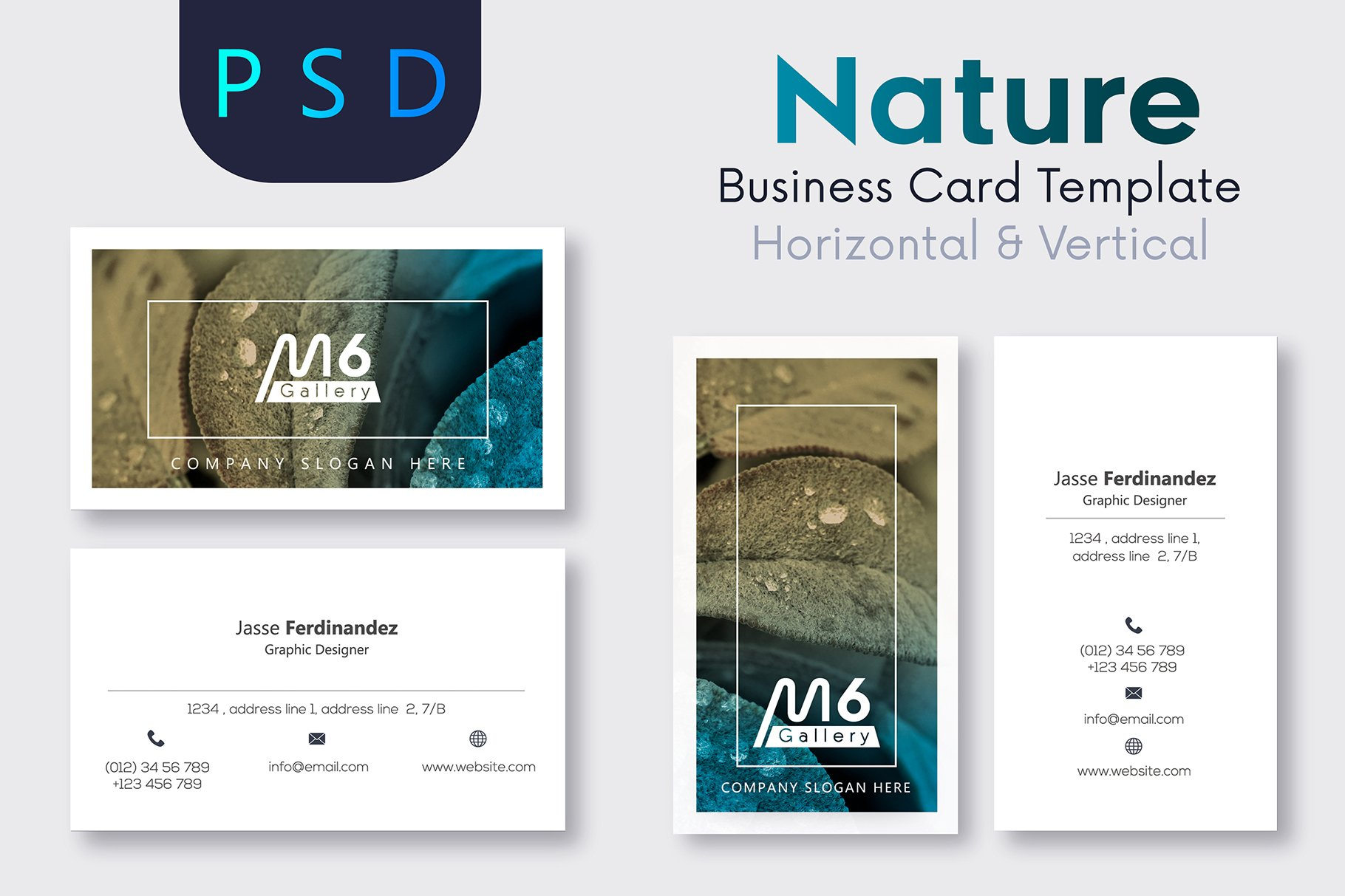 Nature Business Card Template- S14 ~ Business Card Templates ...
