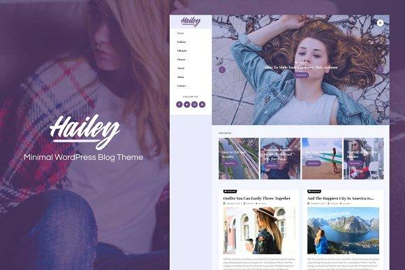Hailey-Minimal WordPress Blog Theme