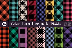 Set Lumberjack Plaid Pattern