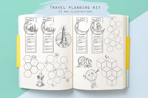 Travel planning kit