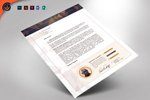 Art Deco Church Letterhead Template