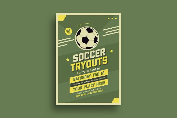 old soccer tryout flyer flyer templates creative market