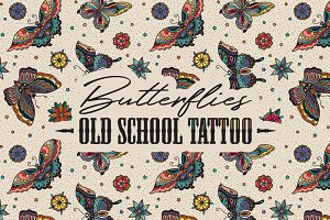 Butterflies Old School Tattoo