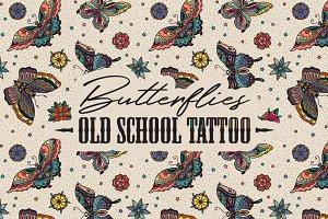 Butterflies Old School Tattoo