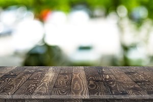Wooden worktop surface with old natural pattern.
