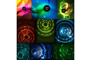 Neon glowing backgrounds